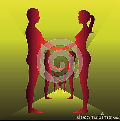 Insieme Degli Uomini E Delle Donne Nudi Fotografia Stock - Immagine ...