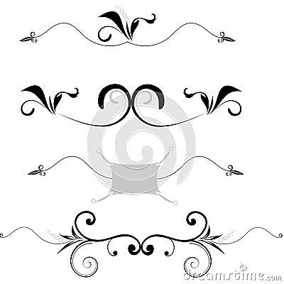 Insieme dei bordi decorativi fotografia stock immagine for Bordi decorativi