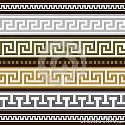 Insieme dei bordi geometrici greci