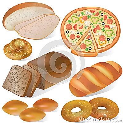 Insieme del forno e del pane