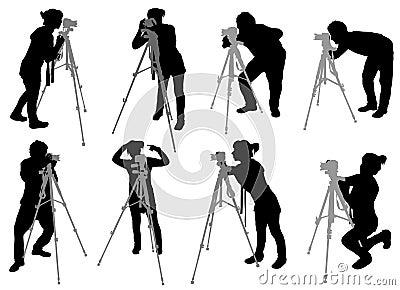 Insieme del fotografo