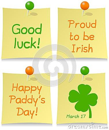 Insieme del post-it di giorno di St Patrick s