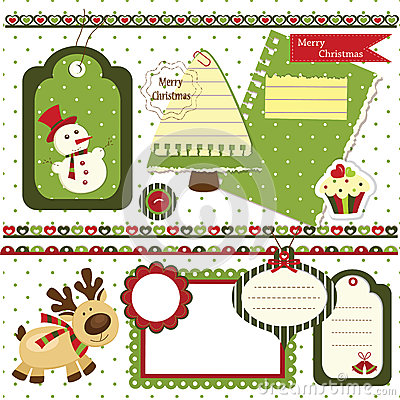 Insieme dell album per ritagli di Natale