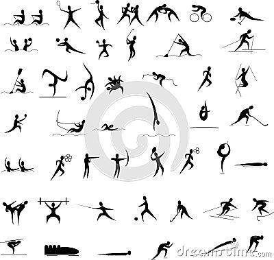 Insieme dell icona dei Giochi Olimpici