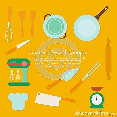 metta la padella degli strumenti della cucina, bollitore ... - Strumenti Cucina