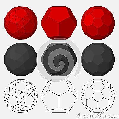Insieme delle figure geometriche tridimensionali for Immagini tridimensionali gratis