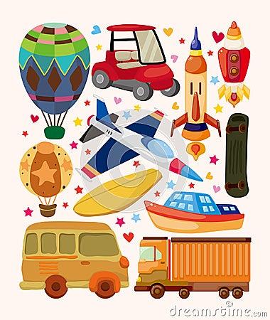 Insieme delle icone di trasporto