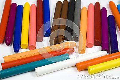 Insieme delle matite dell olio dei bambini