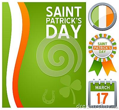 Insieme di giorno di st patrick s immagini stock libere da - St patricks giorno fogli di colore giorno ...