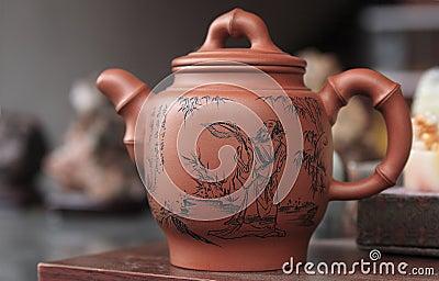 Insieme di tè cinese