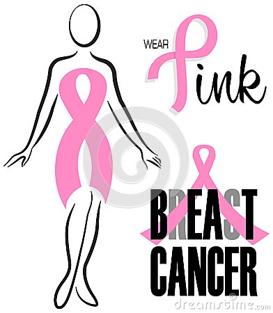 Insieme rosa della clip del nastro del cancro al seno