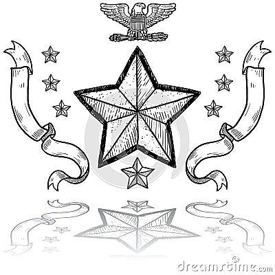 Insignes de l armée américain Avec la guirlande