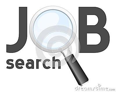 Insignia de la búsqueda de trabajo