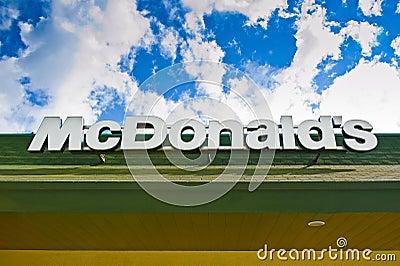 Insignia de McDonald s Imagen de archivo editorial
