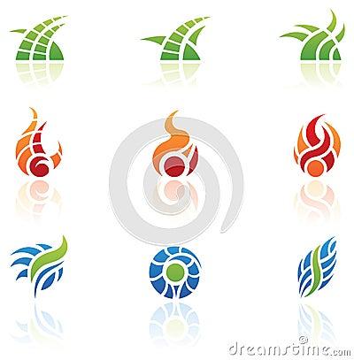 Insignias de los elementos de la naturaleza