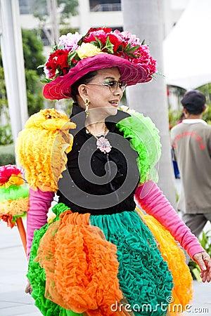 Inspección previo del desfile 2011 de Chingay Foto de archivo editorial