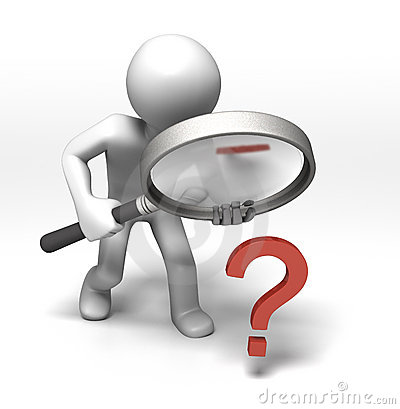 Free Inspecting The Question Stock Images - 12839414