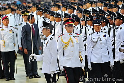 Inspection of guard-of-honor contingents Editorial Stock Image
