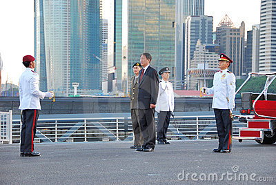 Inspection of Guard of Honour Editorial Stock Photo