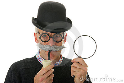 Inspector with magnifier
