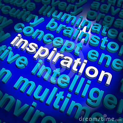 Inspiration Word Showing Positive Thinking