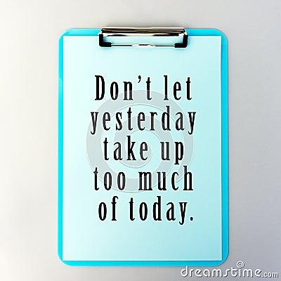 Inspirational Life Quotes Stock Photo