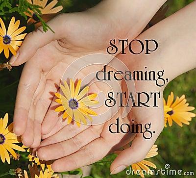 inspirational quote stock photo image 44321362