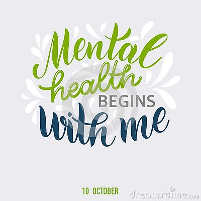 Free Inspirational Quotes For Mental Health Day. Royalty Free Stock Photos - 127026168