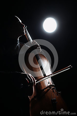 Free Inspired Musician Cellist Fine Art Stock Photography - 33020412