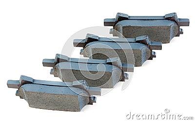 Inställda bromsblock