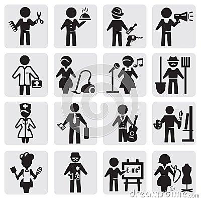 Inställda ockupationar och yrken