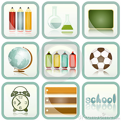 Inställda symboler för skolatillförsel