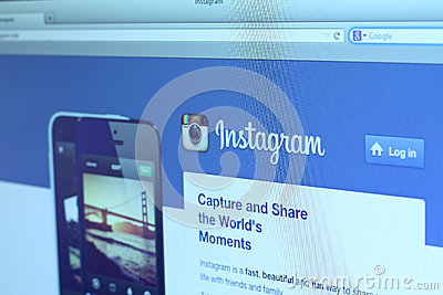 Instagram main webpage Editorial Stock Photo