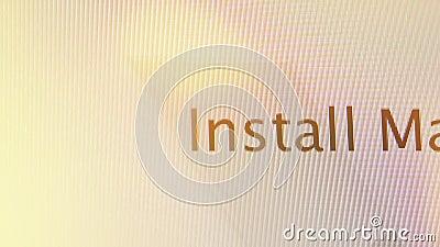 Instale Mac OS X en MaOS de Apple en los ordenadores de iMac almacen de metraje de vídeo