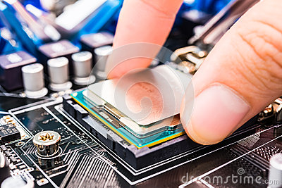 Installation computer chip