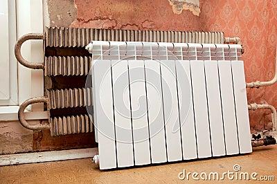 Installation of a radiator