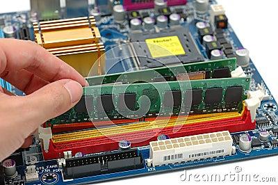 Installing computer ram