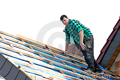 Installing roofing