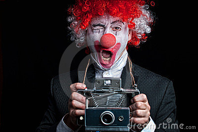 Instant camera clown funny