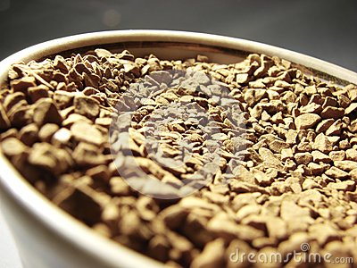 Instant coffee closeup 2