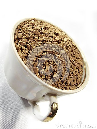 Instant coffee granules closeup 3