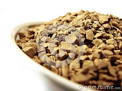 Instant coffee granules closeup 4
