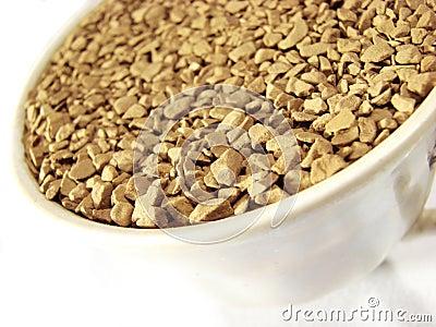 Instant coffee granules closeup 5