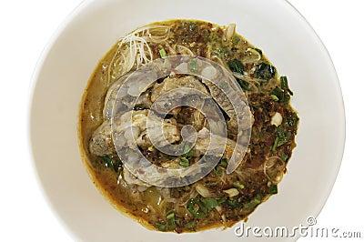Instant noodles pork