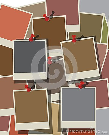 Instant photo background. Vector eps10