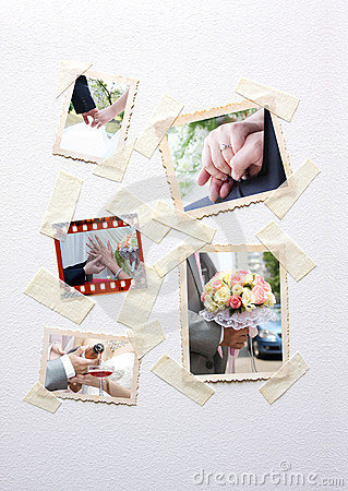 Instant photo frames set