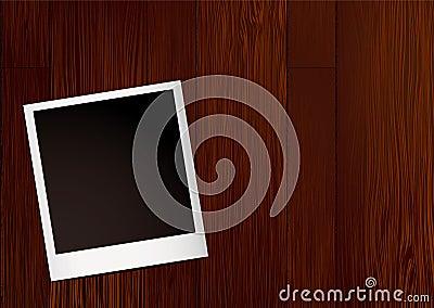 Instant photo wood