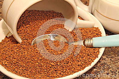 Instante do café liofilizado