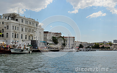 Institute of Biology of Southern Seas and Aquarium in Sevastopol Editorial Stock Photo