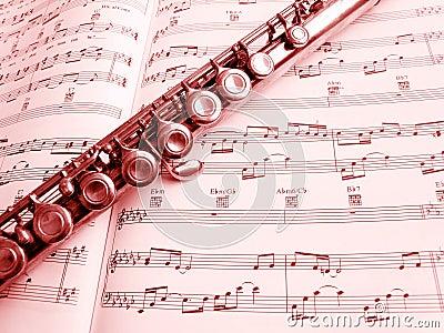 Instrument & de score van de fluit het muzikale